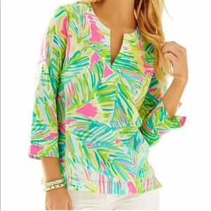 Lilly Pulitzer Tropical Storm Amelia Island Tunic